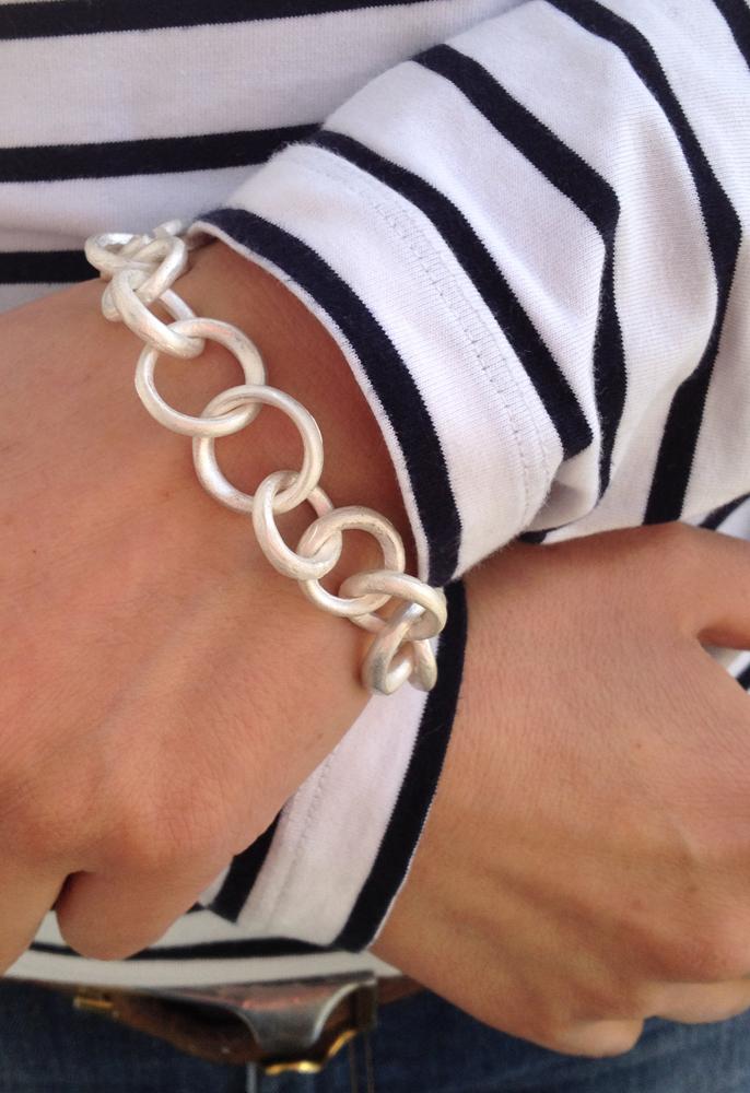 Armband rund Silber